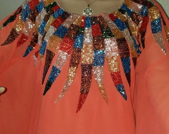 Orange Kaftan dress