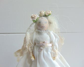 Miss Haversham, Limited Edition Doll, Wooden Dolls, Peg Dolls, Unique Handmade Doll, Collectable Doll, Heirloom Dolls by Lit Pegs