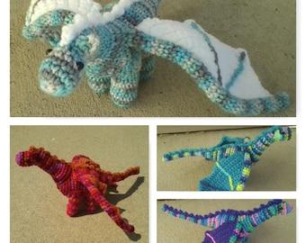 Plush Crochet Dragon (2 of 3)