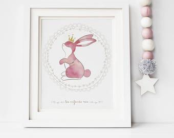 """Rabbit """"Children as kings"""" poster"""