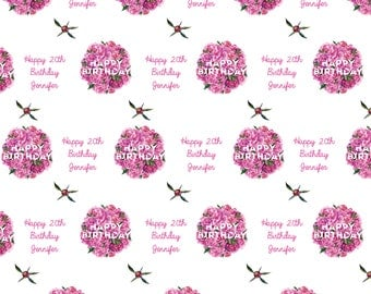 Personalized Birthday Wrapping Paper