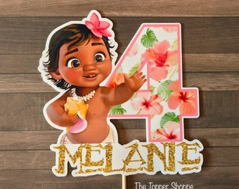 BABY MOANA Customized Cake Topper / Centerpiece / Birthday Party Supplies / Decorations