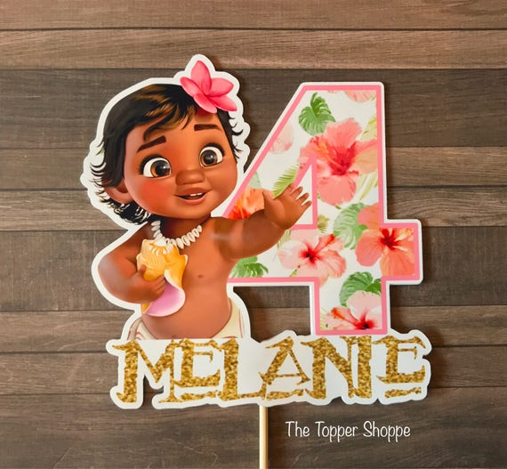 BABY MOANA Customized Cake Topper / Centerpiece / Birthday