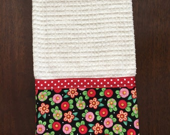 Christmas kitchen towels - oversized kitchen towels - handmade - decorated kitchen towels