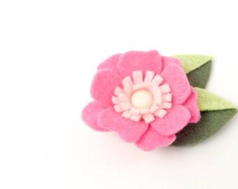 Baby Headband - Felt Flower Headband Baby - Felt Flowers - Pink Ombre - Felt Flower Clip - Felt Flower Headband - Flower Headband Toddler