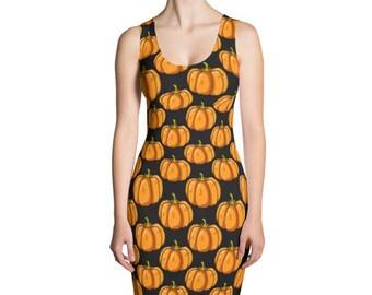 Pumpkin dress, Halloween dress