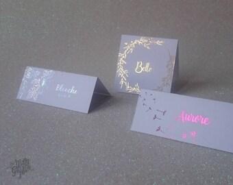 Mark up modern metallic design, wedding, housewarming, birthday