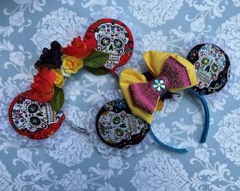 Sugar Skull/ Dia de los Muertos Minnie Ears