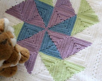 Crochet- Flying Geese Baby Blanket