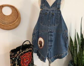 Vintage Denim Shortalls- Big Smith Overalls - Overalls - Altered Vintage - Hippie