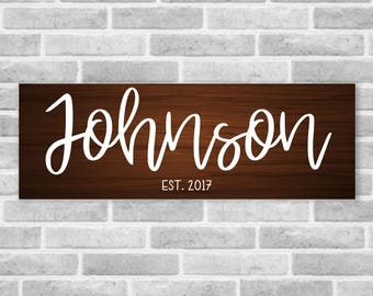 Personalized Wooden Last Name Established Sign, Personalized Home Decor, Personalized Wood Sign, Established Sign, Wedding Gift, Family