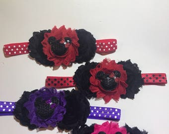 Minnie mouse headband red and black