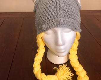 Infant, Toddler, Youth, Adult Viking Hat with Braids