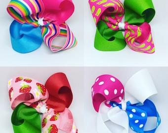 Hair Bows, Basic Hair Bows, Boutique Hair Bows, Solid Color Hair Bow, Print Hair Bow, Southern Hair Bow, Big Bow, Bow, Bows for girls