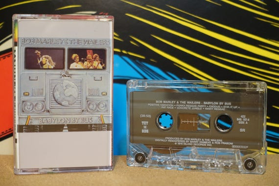 Babylon By Bus by Bob Marley & The Wailers Vintage Cassette Tape