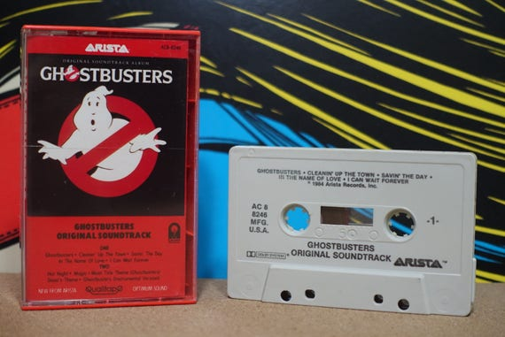 Ghostbusters (Original Soundtrack Album) by Various Artists Vintage Cassette Tape