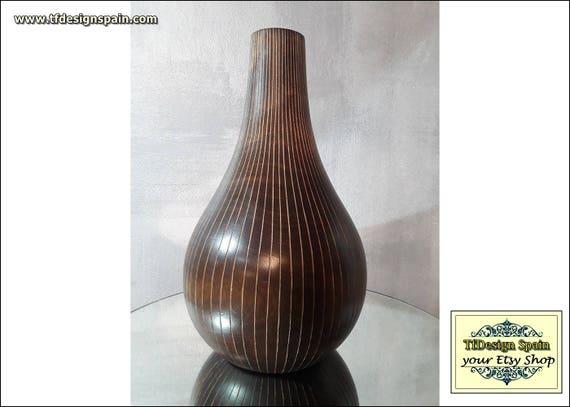 Vase wood, Woodturning vase, Wood turned vase, Wood vase design, Wood vase Etsy, Vase mango wood, Wood round vase, Wood turned vase for sale