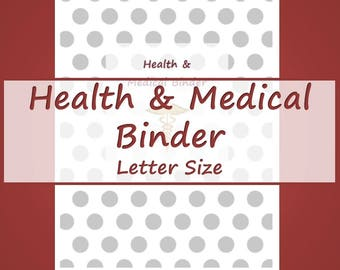 Health and Medical Printables -- Maroon and Gray