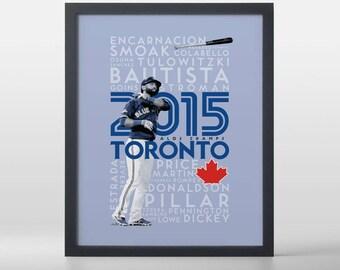 Toronto Blue Jays- 2015 ALDS Champs Baseball Art Print