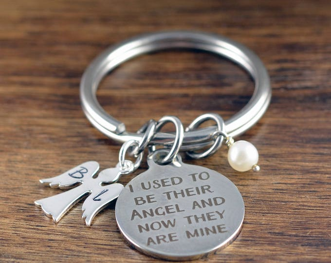 Remembrance Keychain, Angel Keychain, Remembrance Gifts, Memorial, Remembering a loved one, I used to be their angel and now they are mine