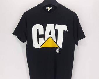 Sale !! Free Shipping 90s Vintage CAT Caterpillar T Shirt/Grunge/Workwear/Punk