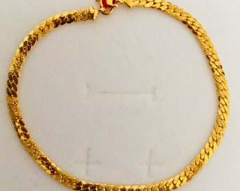 8 inches Cowboy 22k solid 916 gold bracelet
