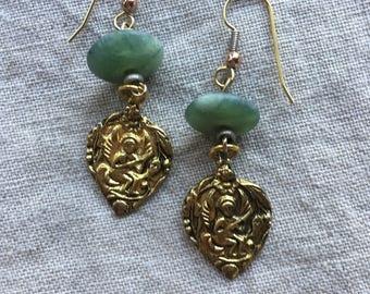 Jade Amulet Earrings