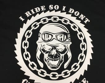 I Ride so I dont choke people Unisex tshirt motorcycle fun shirt