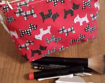Make - up bag. Scottie/Westie dog
