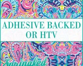LP Inspired Paisley Pattern #1 Adhesive or HTV Heat Transfer Vinyl for Shirts Crafts and More!