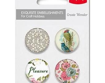 4 round metal embellishments to paste SCRAPBERRY's PLEASURE