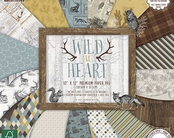 "Set of 16 papers ""First Edition"" two pockets 30.5 cm WILD AT HEART"