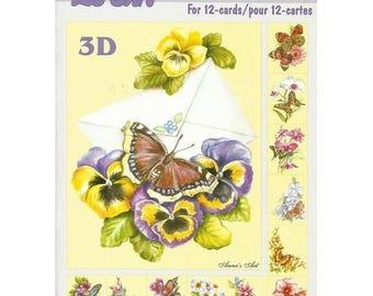 Paper sheets 3D decoupage, collage, cardmaking BUTTERFLIES on flowers 602
