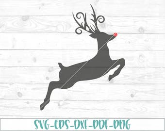Rudolph svg, dxf, png, cricut, cameo, cut file, christmas svg, reindeer svg, 1st christmas svg, first christmas svg, santa clause svg