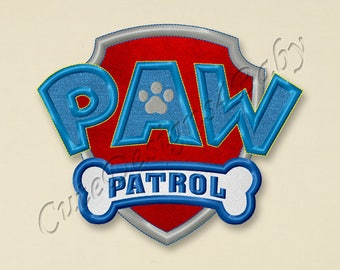 SALE! Badge Paw Patrol applique embroidery design, Paw Patrol Machine Embroidery Designs, Embroidery designs baby, Instant download #019