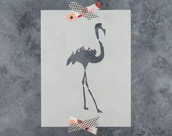 Flamingo Stencil - Reusable DIY Craft Stencils of a Flamingo - Hand Drawn Design!