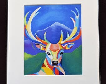 Stag Giclee Print.
