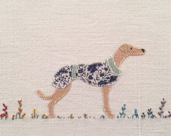 Greyhound picture, Whippet picture, Lurcher picture, Italian greyhound picture, gift for dog lover. My name is Win!