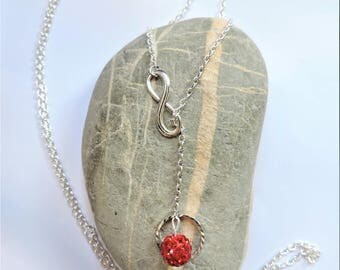sorts red beads necklace slide infinity ღ ღ