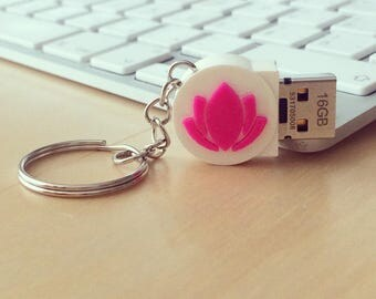 USB With Yoga Asana, Yoga Pose, Lotus Flower