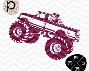Monster Trucks SVG File*Monster Truck clipart,eps,dxf,png,jpg*Cutting Files*Cricut*Silhouette*Sure Cuts a lot