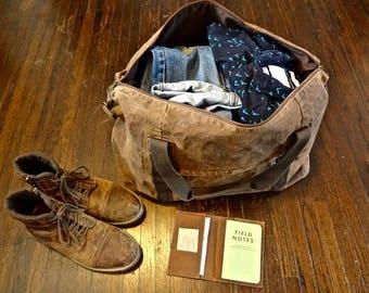 Weekender Bag, Weekend Bag, Weekender, Waxed Canvas Weekender, Travel Bag, Carry On Bag, Carry On Luggage, Duffle Bag, Waxed Canvas Duffle