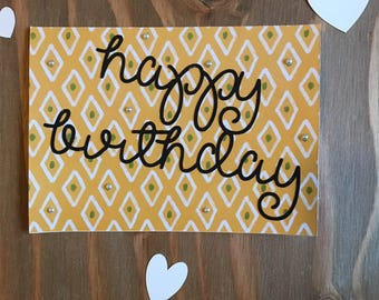 Birthday Card- Happy Birthday- For her- For Him