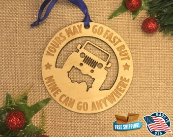 Jeep Ornaments *** Wrangler Ornament *** YJ TJ Jku JK Lj Jeep *** Offroading Gift *** Stocking Stuffer *** Christmas Holiday Ornament ***