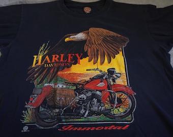 "VTG 1996 (XL) Harley Davidson ""Immortal"" Graphic Tee"