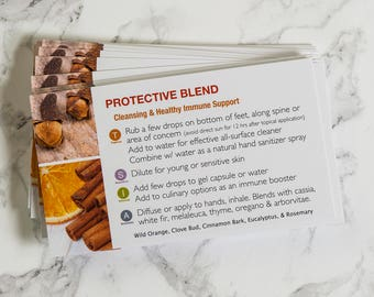 Protective Blend Oil Cards (25 pack)