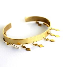 TUAREG Bangle gold plated thin gold platted ethnic tuareg ethnic african