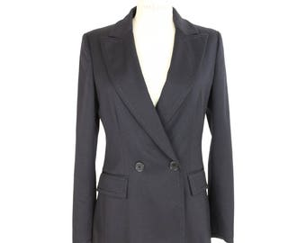 Iceberg vintage wool double breasted blue navy jacket size 42 it women's made italy
