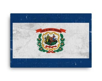 West Virginia Flag, West Virginia Flag Art, West Virginia State, West Virginia Flag Wall Art, West Virginia Canvas, WV Flag Print, Poster
