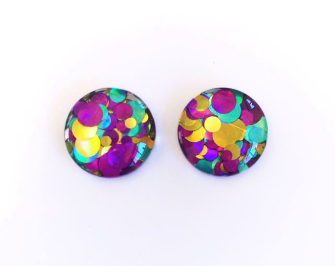 The 'Martini' Glass Glitter Earring Studs